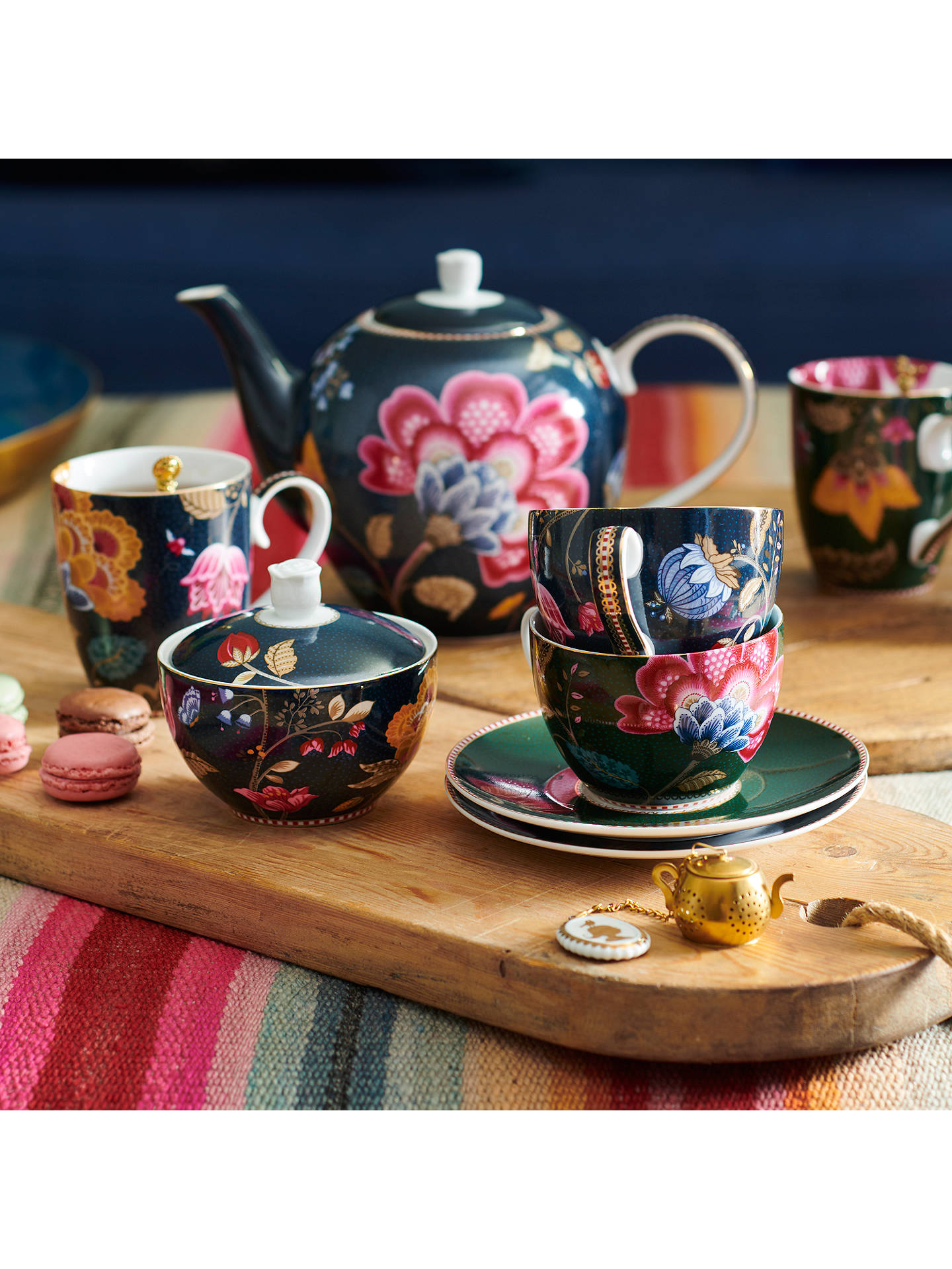 Buy PiP Studio Floral Fantasy Porcelain Sugar Bowl, Blue Online at johnlewis.com