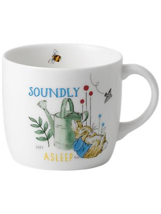 Beatrix Potter Peter Rabbit Soundly Asleep Wedgwood Mug