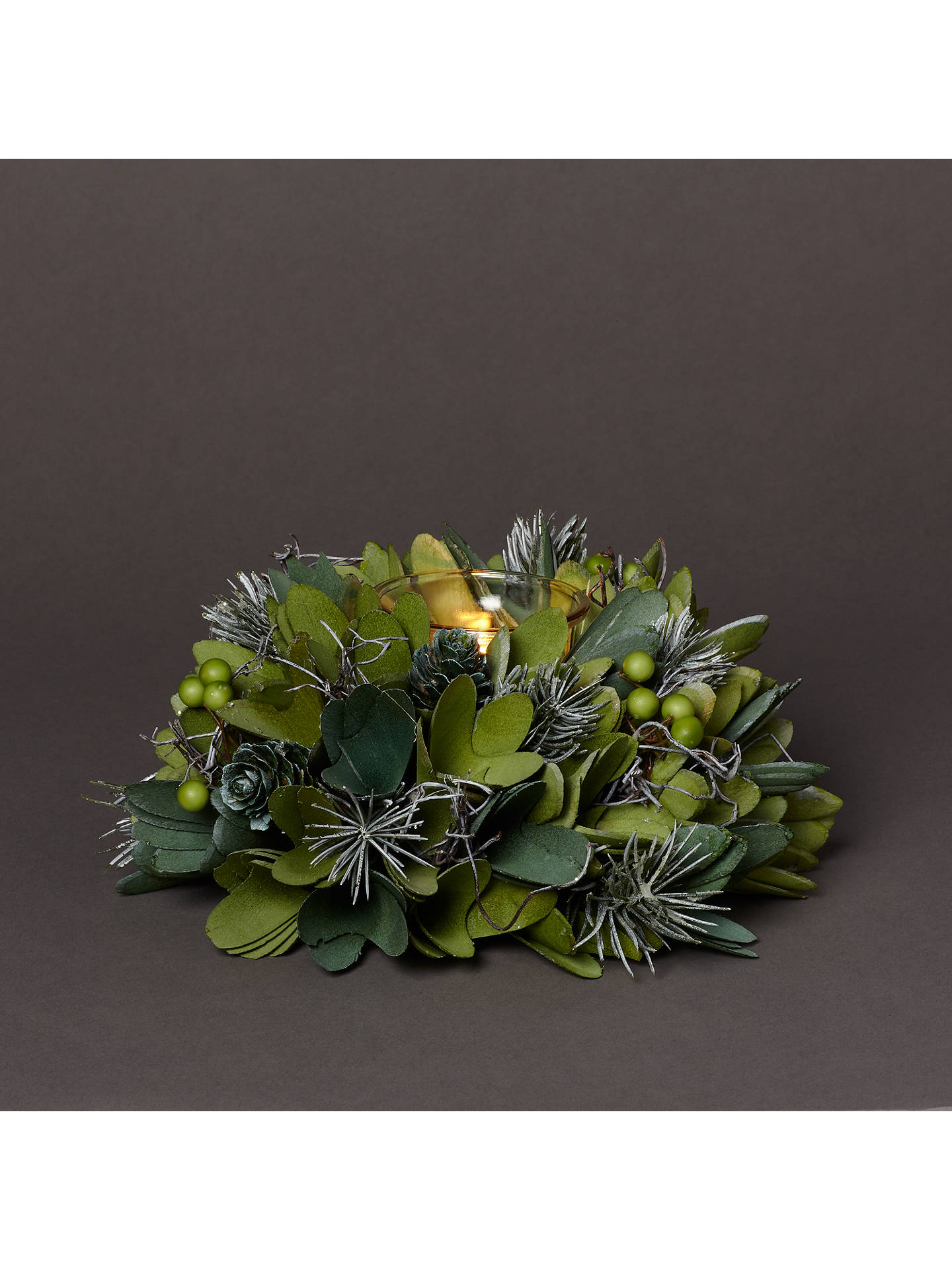 Buy John Lewis & Partners Emerald Pine Cone Tealight Holder Online at johnlewis.com