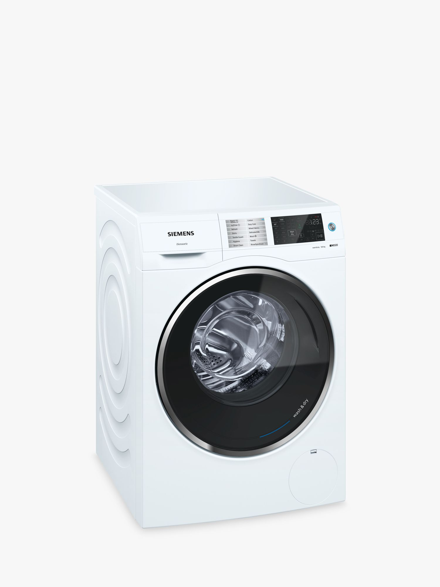 Siemens Siemens WD14U520GB Washer Dryer, 10kg Wash/6kg Dry Load, A Energy Rating, 1400rpm Spin, White