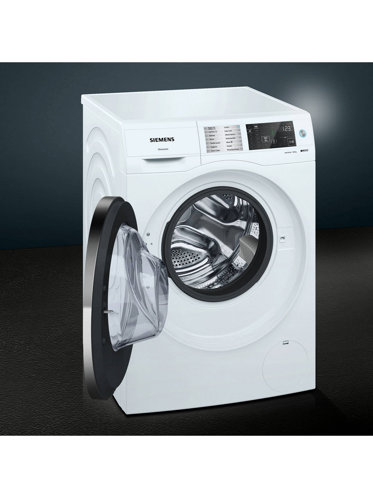 BuySiemens WD14U520GB Washer Dryer, 10kg Wash/6kg Dry Load, A Energy Rating, 1400rpm Spin, White Online at johnlewis.com