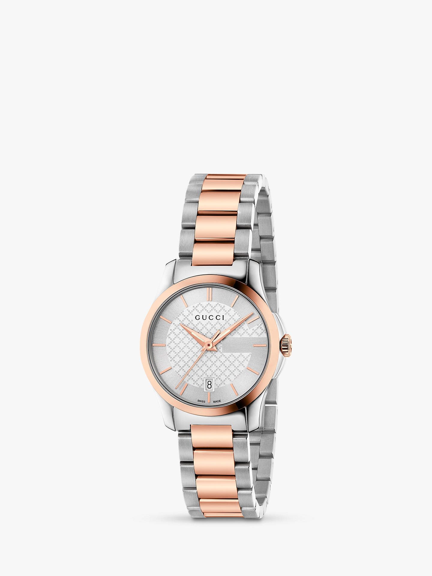 1379469dcd9 Buy Gucci YA126564 Women s G-Timeless Date Bracelet Strap Watch