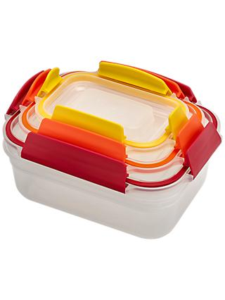 Joseph Joseph Nest Lock Airtight Storage Containers, Set of 3, Assorted