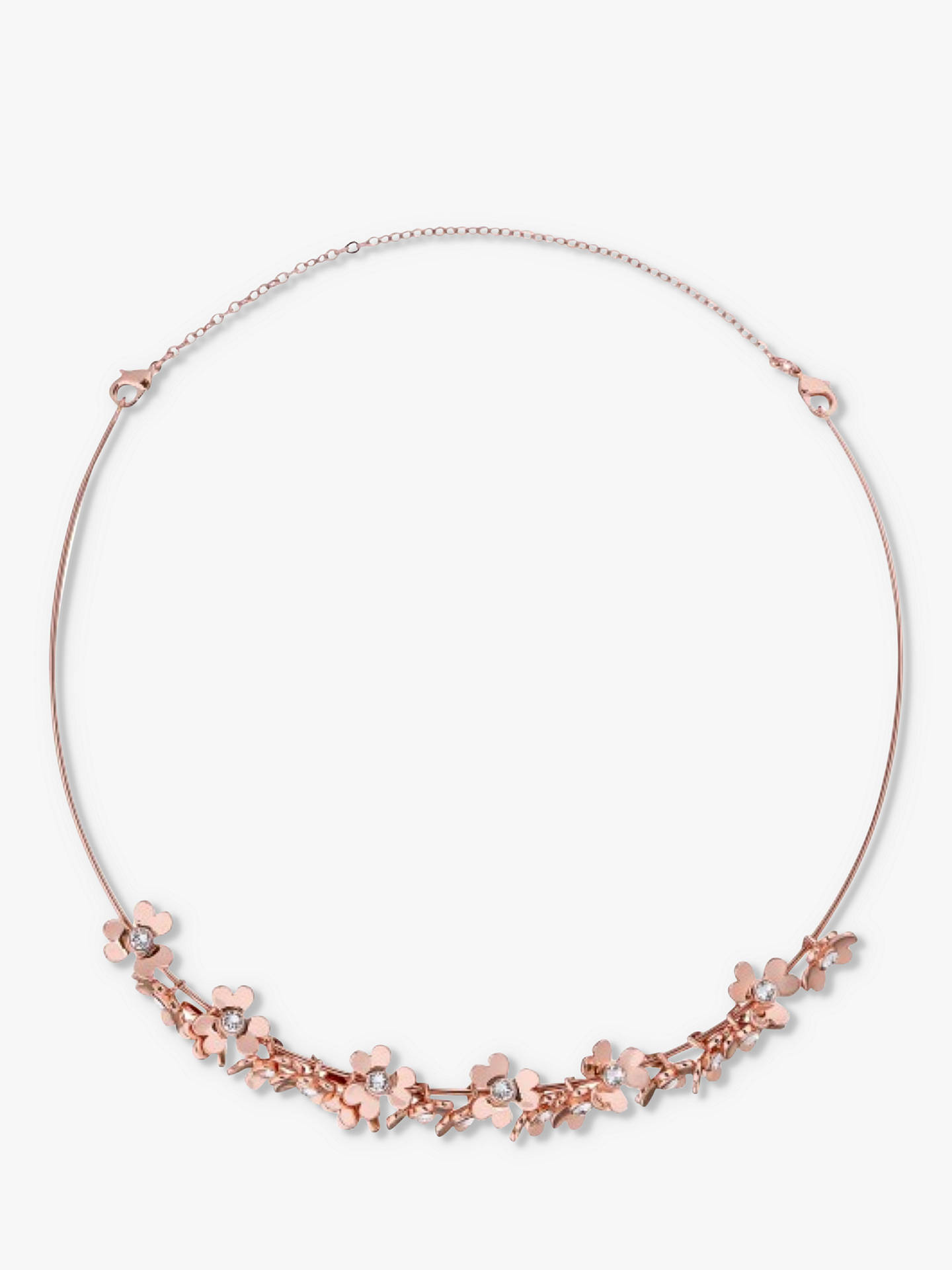 Buy Ted Baker Hadriaa Heart Blossom Collar Necklace and Tiara, Rose Gold Online at johnlewis.com