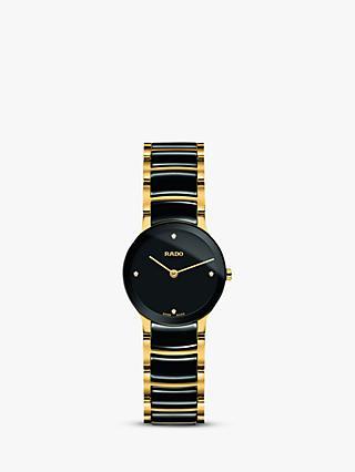 Rado R30189712 Women s Centrix Diamond Bi-Material Bracelet Strap Watch 43dc246e6ae3
