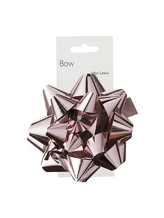 Buy John Lewis & Partners Confetti Bow, Rose Gold Online at johnlewis.com