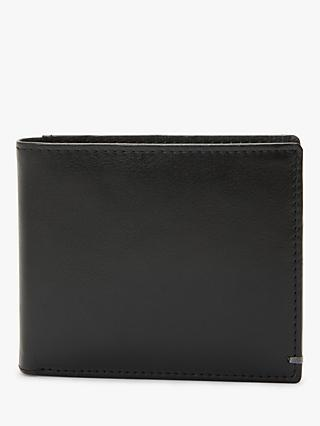 John Lewis & Partners RFID Blocking Leather Bifold Card Wallet, Black