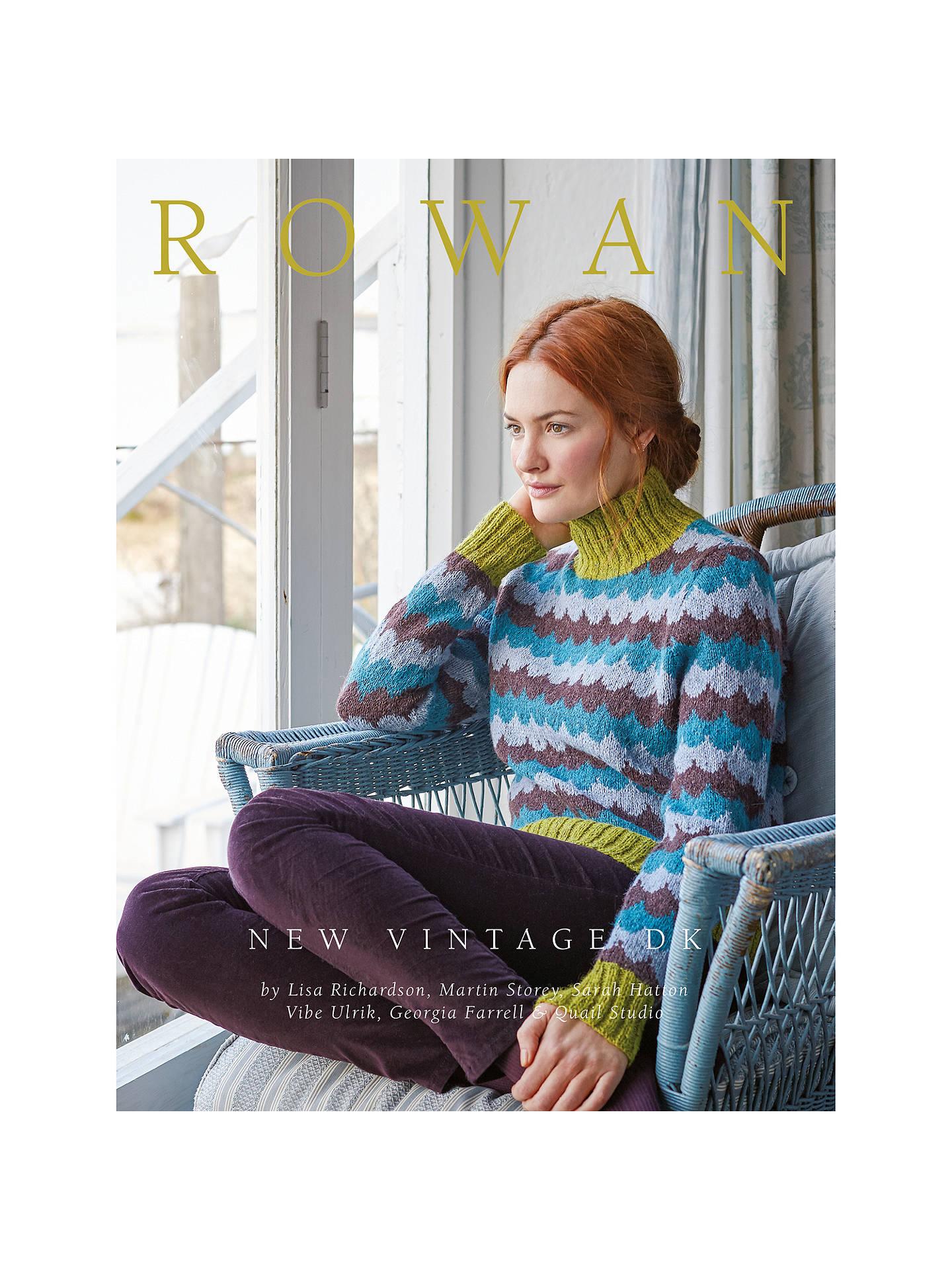 Rowan New Vintage Knitting Pattern Book At John Lewis Partners