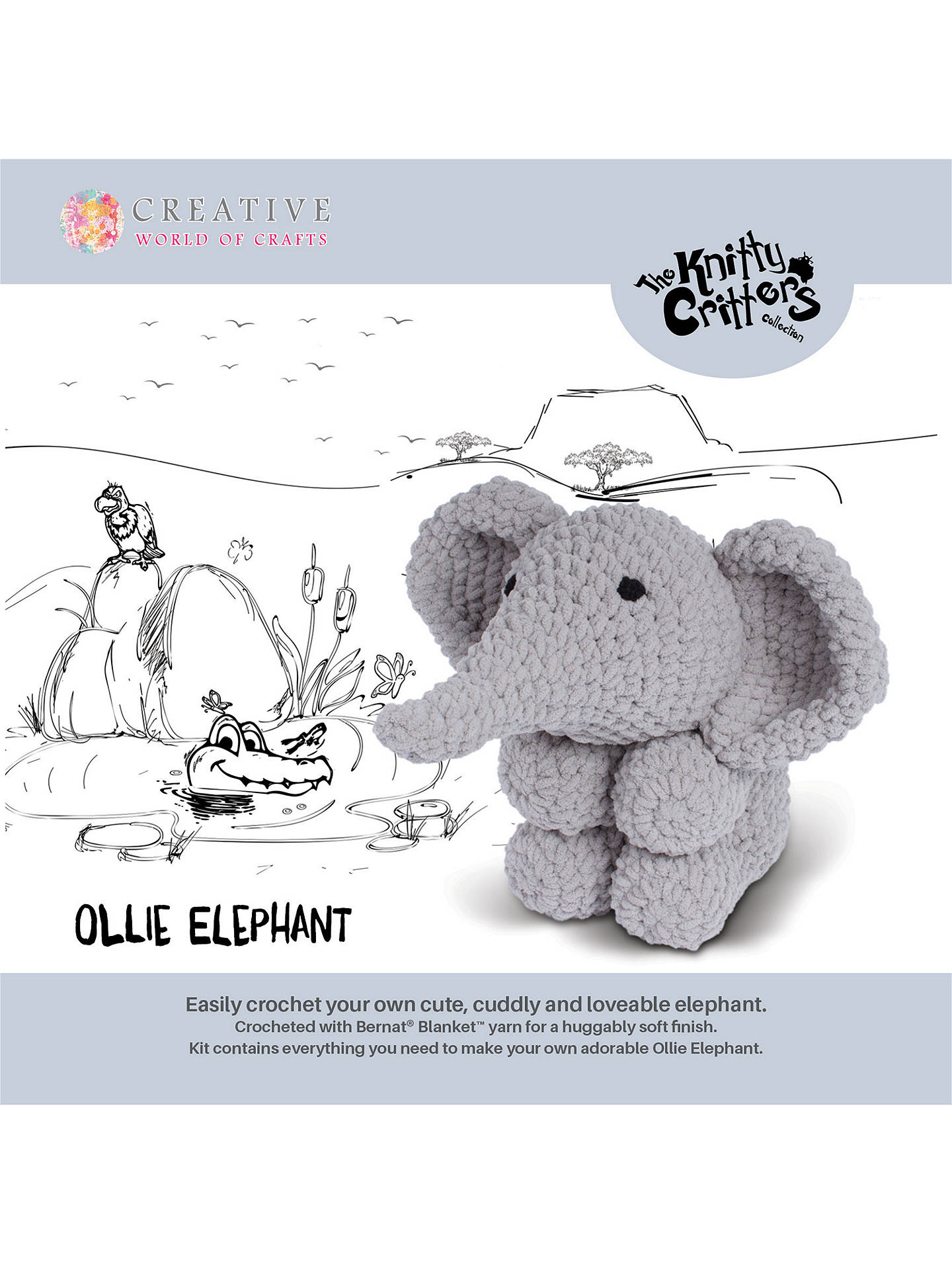 Crochet Elephant Comforter Amigurumi Project: British Wool | TOFT | 1920x1440