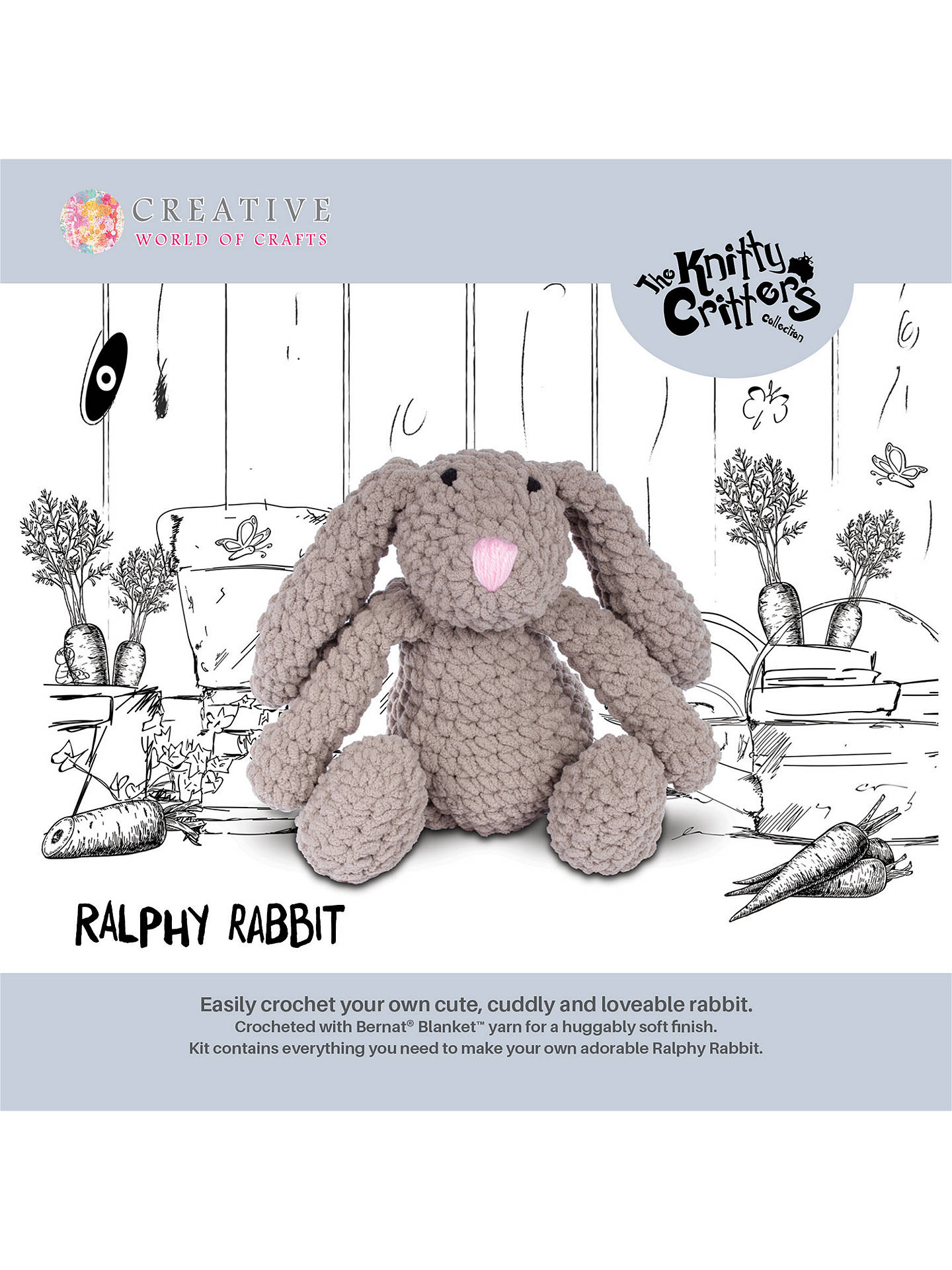 Buy Knitty Critters Ralphy Rabbit Crochet Kit Online at johnlewis.com
