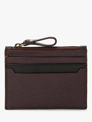 Card holders mens wallets john lewis partners john lewis partners leather zip card holder oxblood reheart Image collections