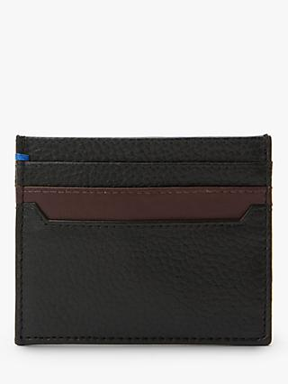 John Lewis & Partners Pebble Grain Leather Card Holder, Black