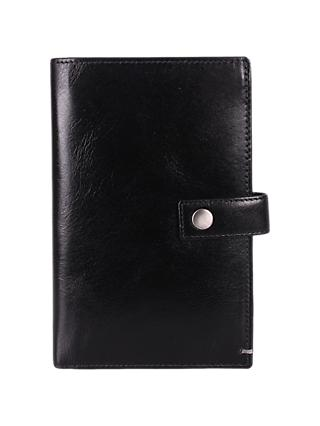 John Lewis & Partners RFID Blocking Travel Clip Leather Wallet, Black