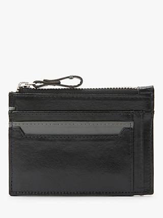 John Lewis & Partners Genuine Leather Card Holder, Black