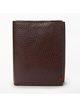 John Lewis & Partners RFID Blocking Leather Trifold Wallet, Oxblood