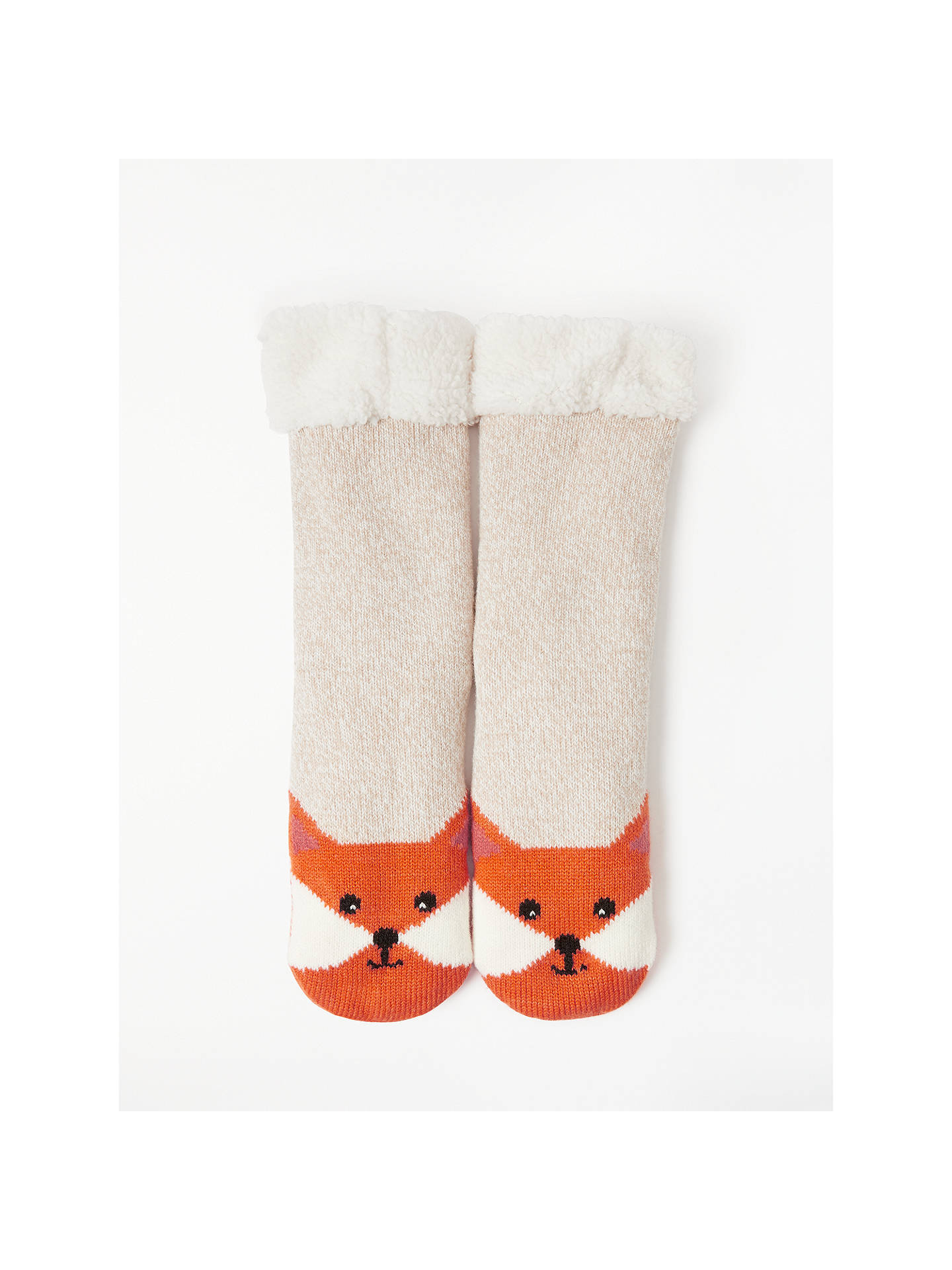 Buy John Lewis & Partners Fox Ankle High Chunky Bootie Socks, Natural Online at johnlewis.com