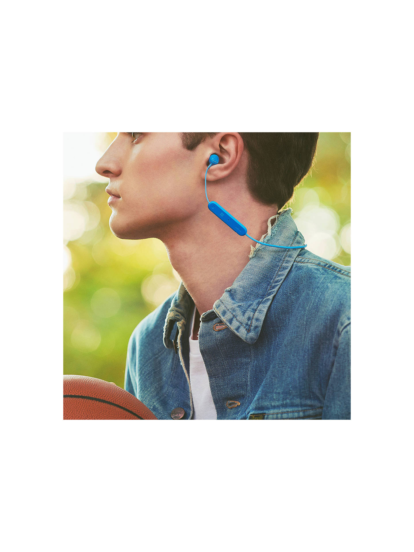 BuySony WI-C300 Bluetooth NFC Wireless In-Ear Headphones with Mic/Remote, Blue Online at johnlewis.com