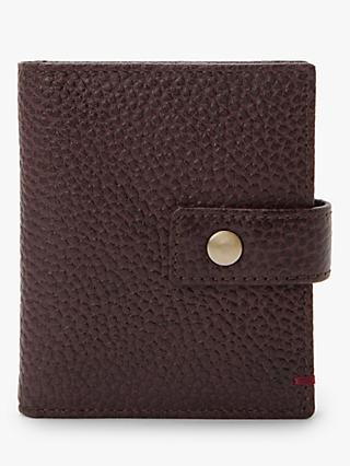 John Lewis & Partners Stud Tab Tanned Leather Wallet, Oxblood