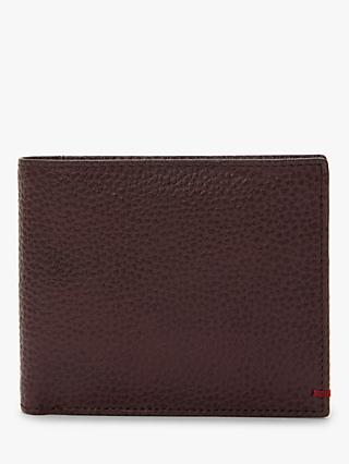 John Lewis & Partners RFID Blocking Bifold Leather Wallet, Brown