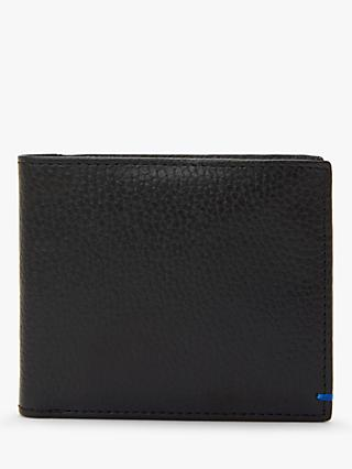 John Lewis & Partners RFID Blocking Bifold Leather Wallet, Black