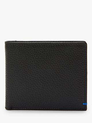 John Lewis & Partners RFID Blocking Leather Coin Wallet, Black