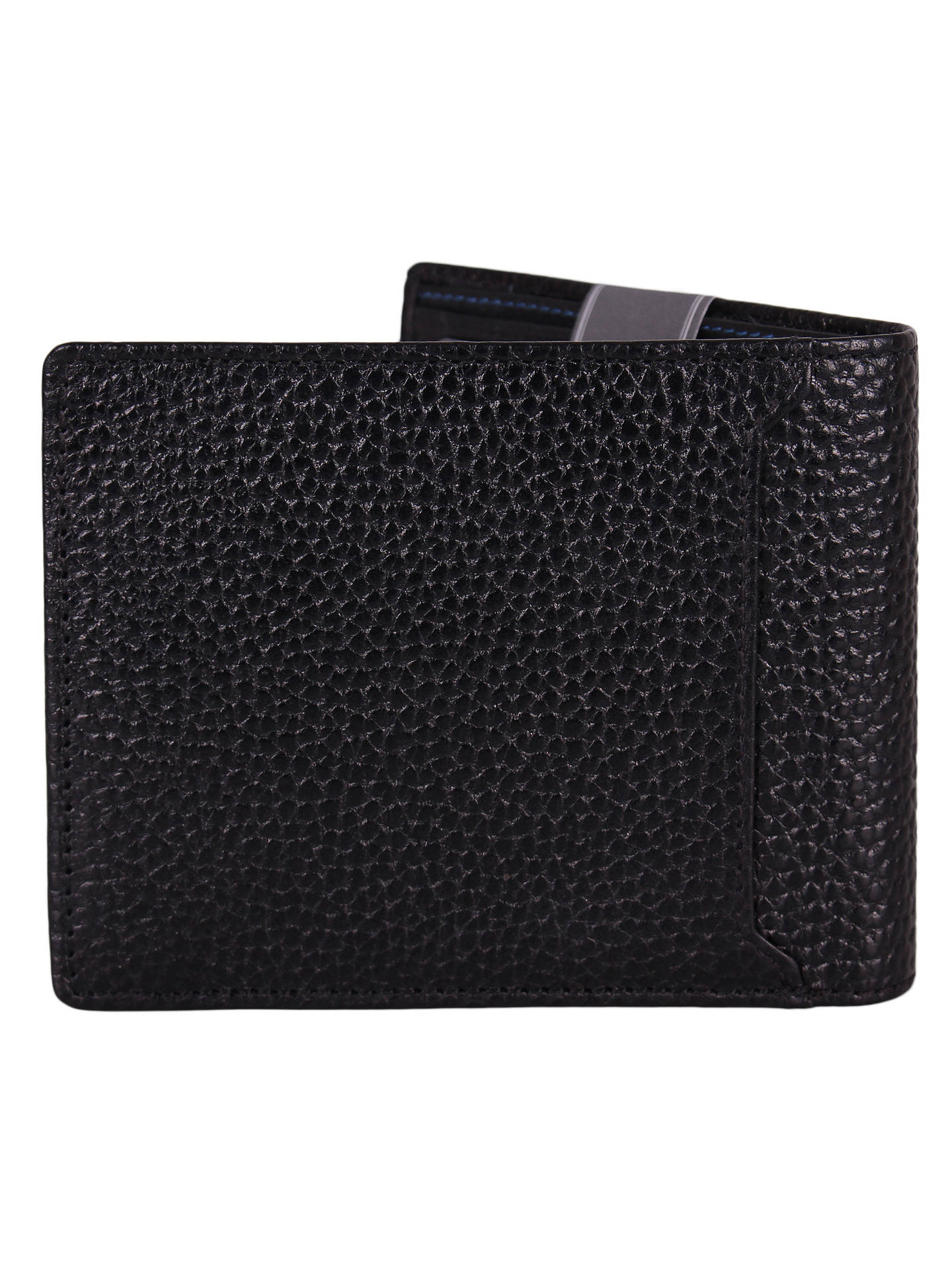 aa6a765c2d2b John Lewis & Partners RFID Blocking Leather Coin Wallet, Black