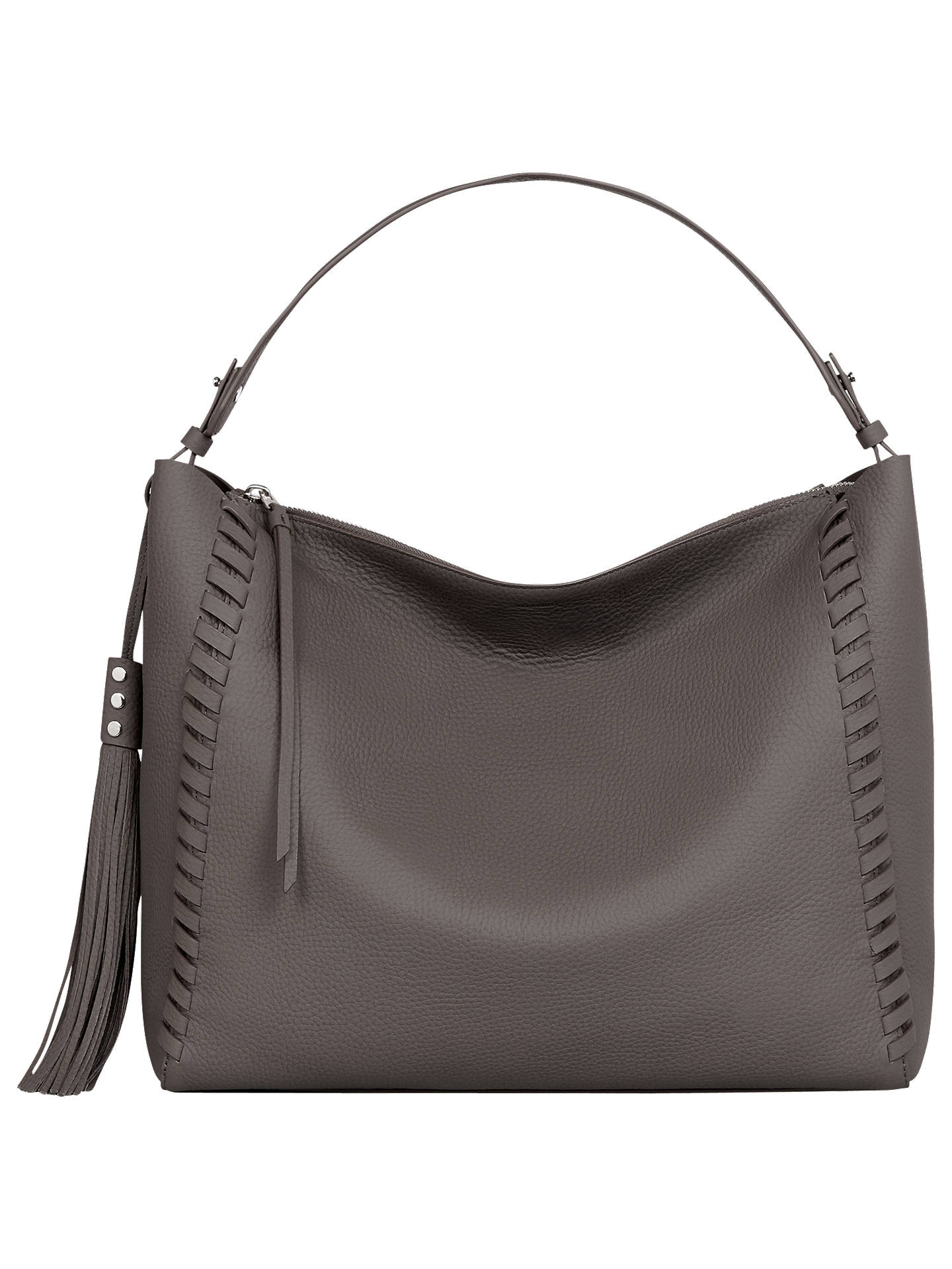 AllSaints Kepi Leather East West Shoulder Bag at John Lewis   Partners 505b752b3bef