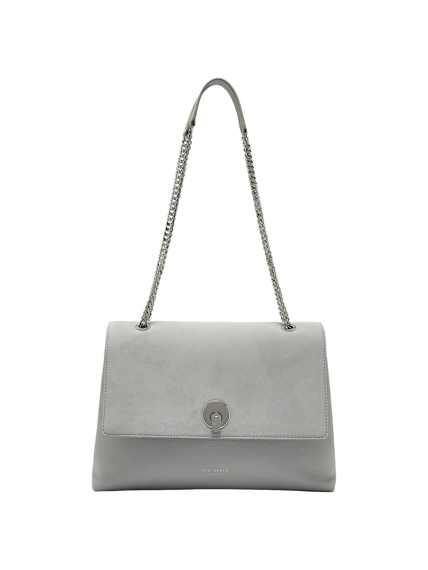 9ccb14bd3b4 Buy Ted Baker Sophina Suede Circle Shoulder Bag, Grey Online at  johnlewis.com ...