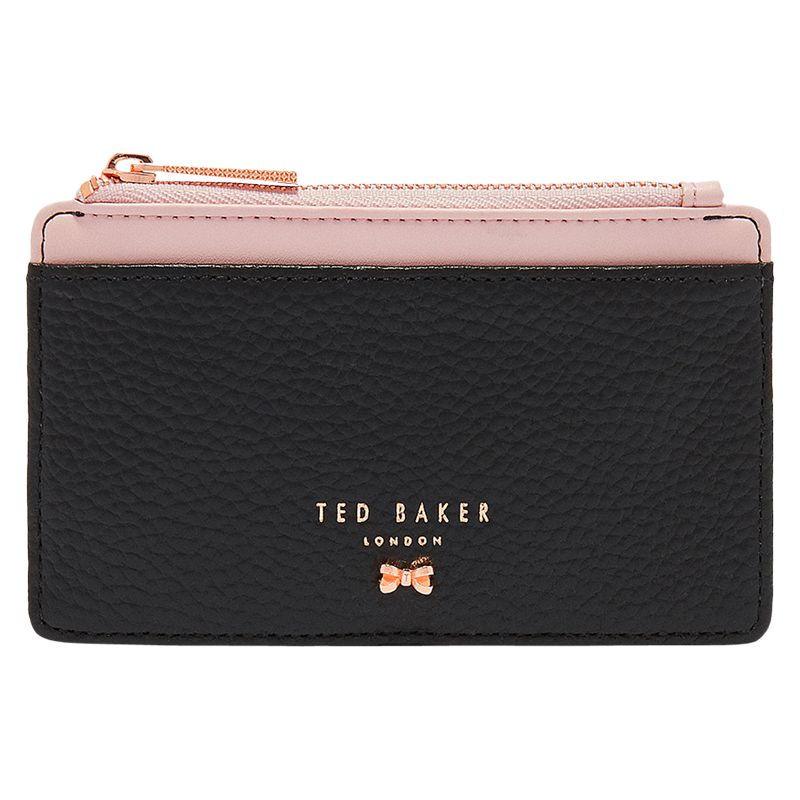 264b7b134056c1 Ted Baker Lori Leather Zipped Card Holder at John Lewis   Partners