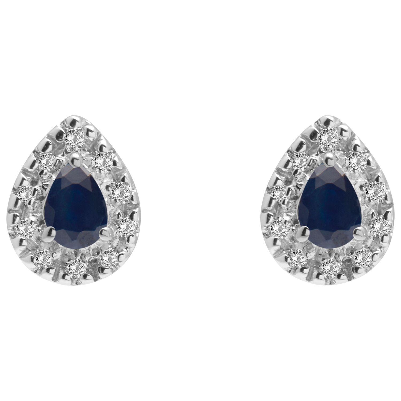 Ruby Wedding Gifts John Lewis: A B Davis 9ct Gold Diamond And Precious Stone Teardrop