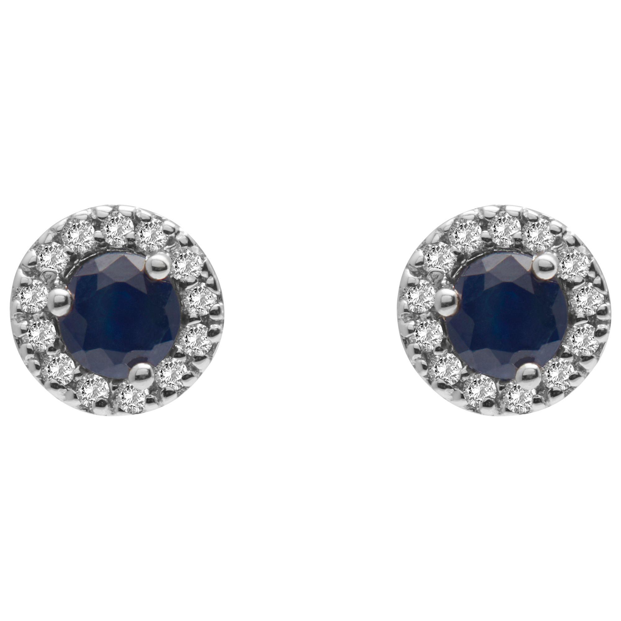 Ruby Wedding Gifts John Lewis: A B Davis 9ct Gold Diamond And Precious Stone Round Stud