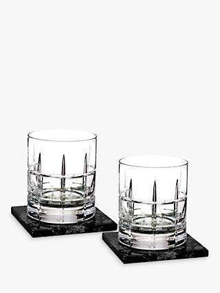 Waterford Short Stories Cluin Tumblers with Marble Base, 350ml, Set of 2, Clear
