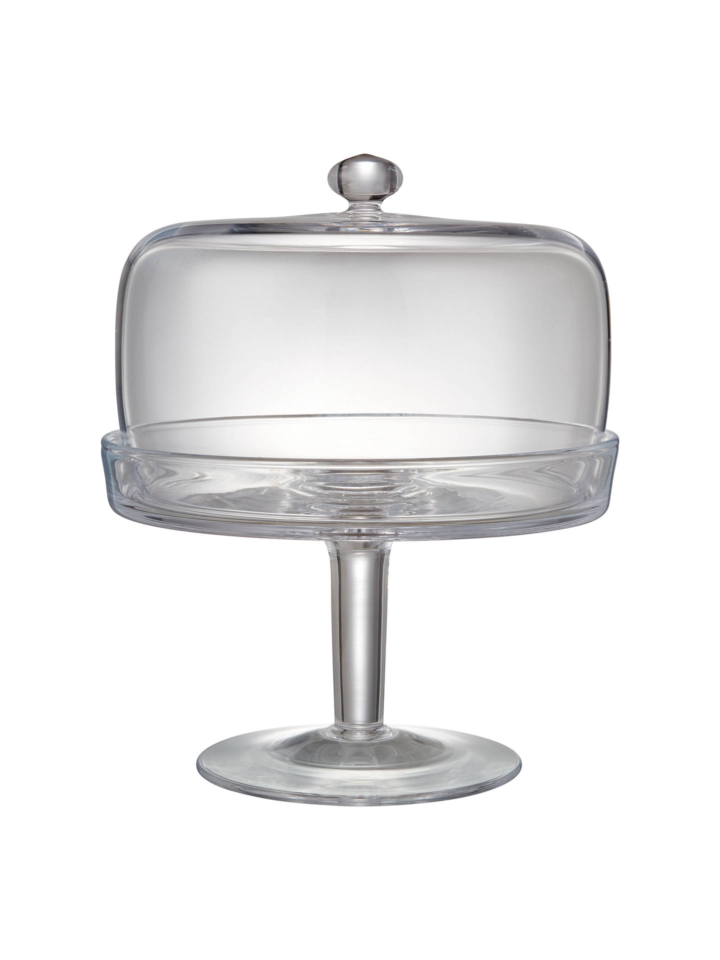 john lewis partners serve glass cake stand and dome 20. Black Bedroom Furniture Sets. Home Design Ideas