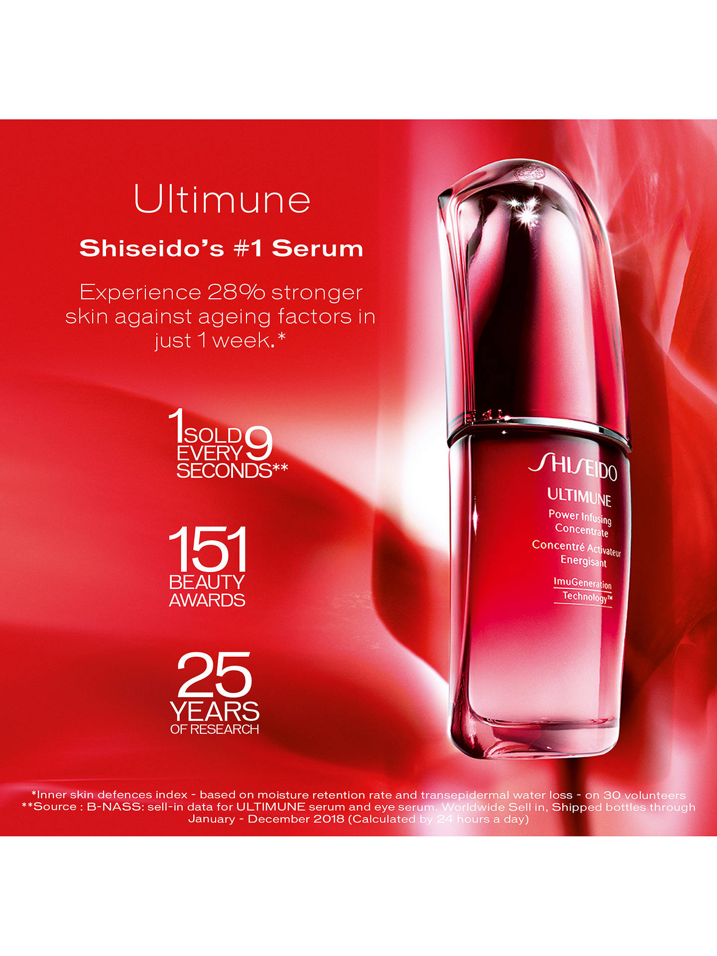 Buy Shiseido Ultimune Power Infusing Concentrate Serum, 30ml Online at johnlewis.com