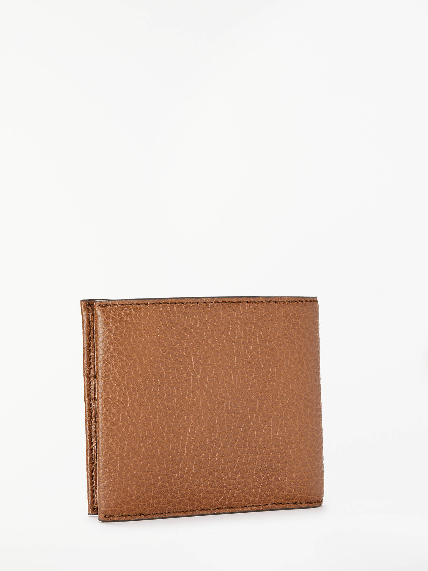 BuyBOSS Crosstown Grained Italian Leather Coin Wallet, Tan Online at johnlewis.com