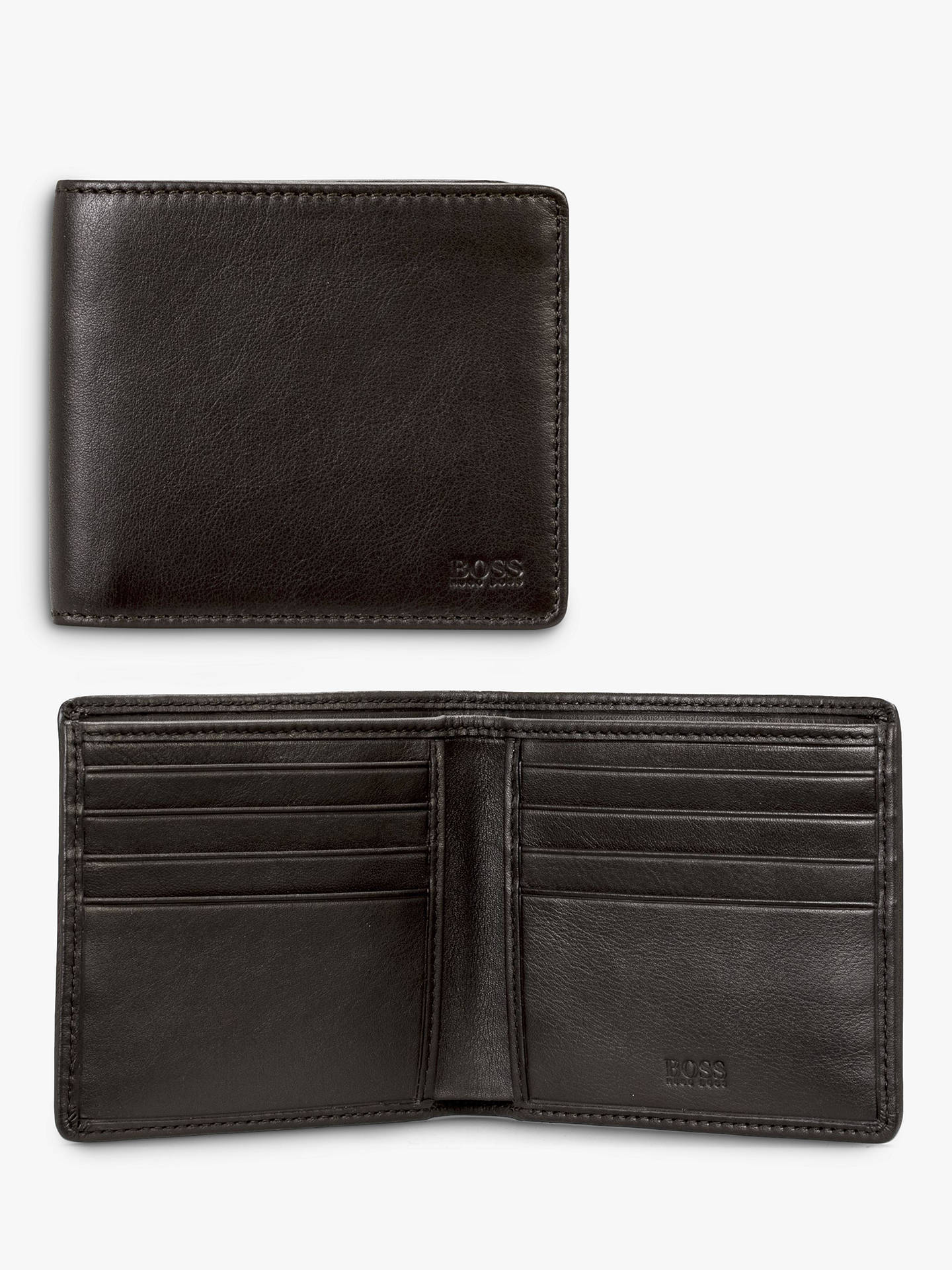 Buy BOSS Majestic 8 Card Leather Bifold Wallet, Black Online at johnlewis.com