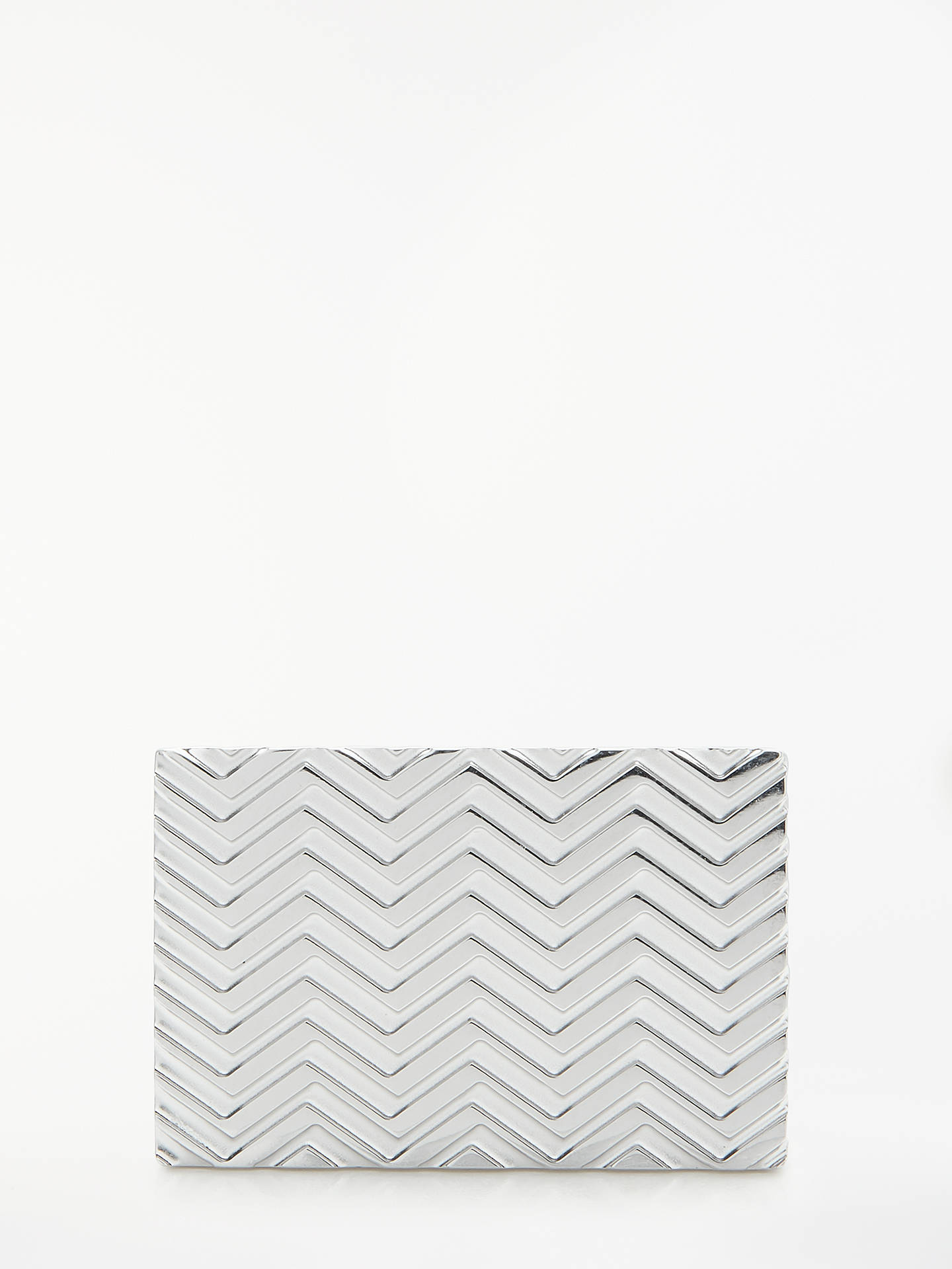 Buy BOSS Fede Engraved Zigzag Cufflinks, Silver Online at johnlewis.com