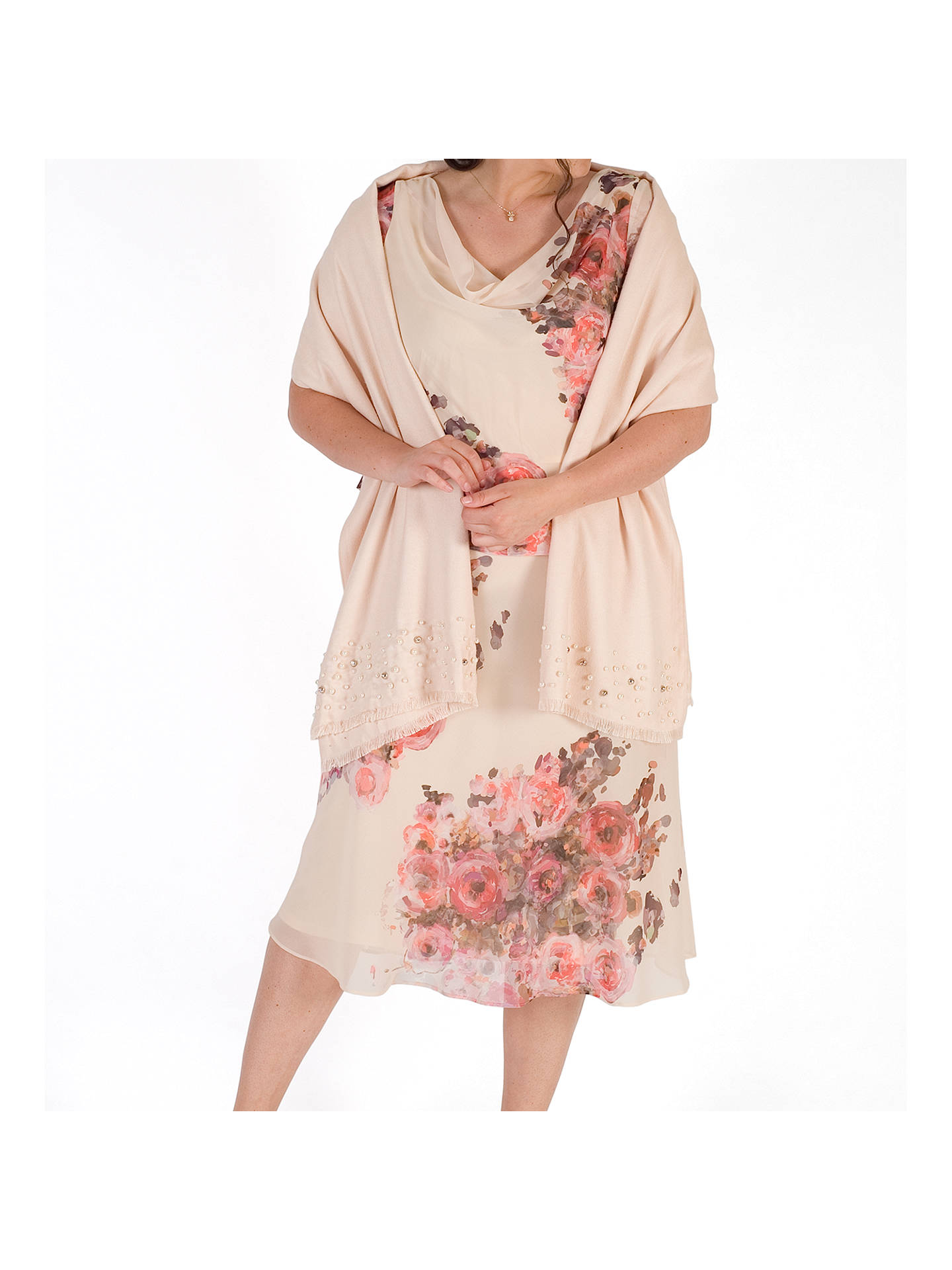 BuyChesca Pearl Pashmina, Blush Online at johnlewis.com
