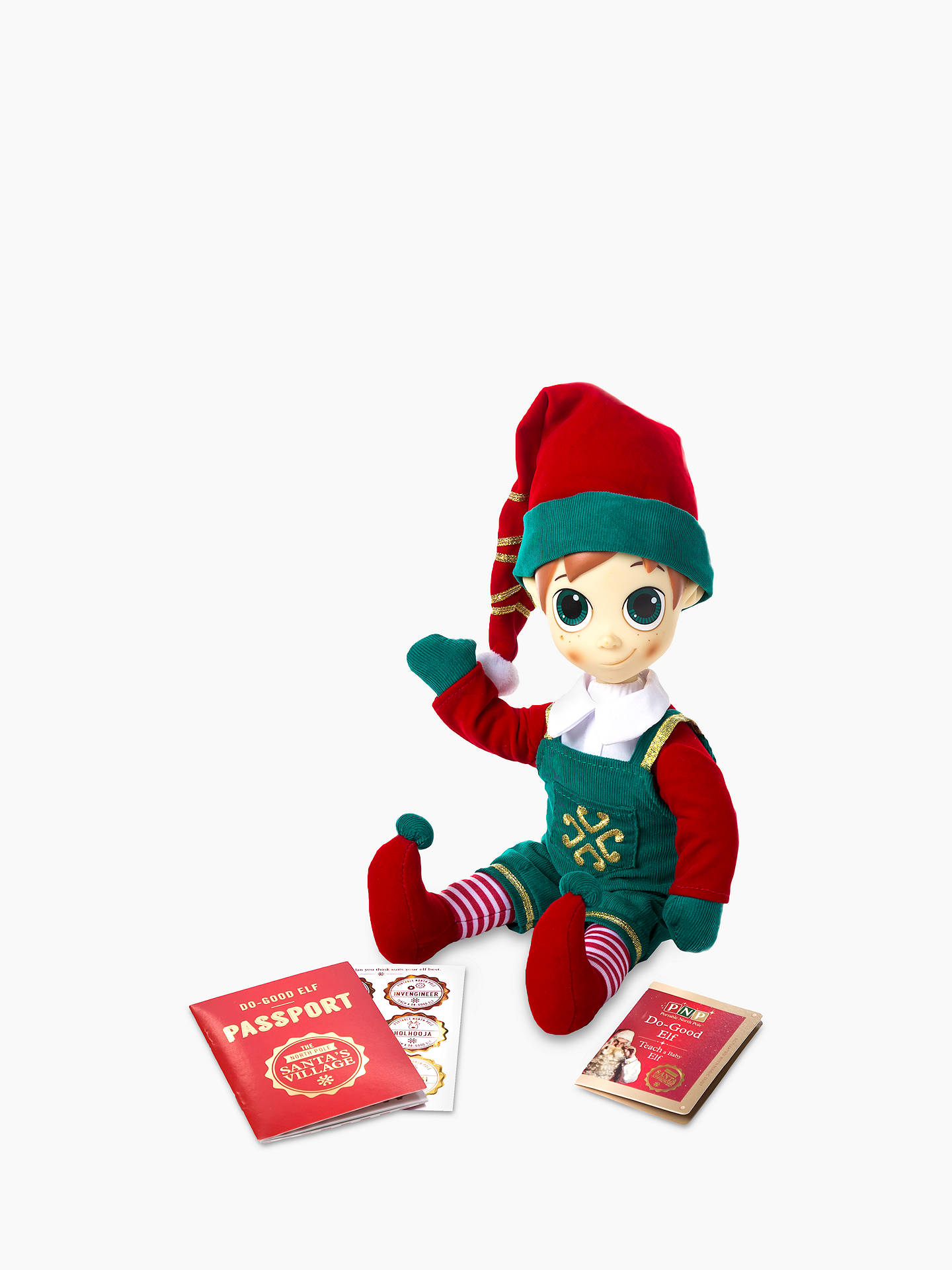 Buy Portable North Pole Boy Elf Christmas Soft Toy Online at johnlewis.com