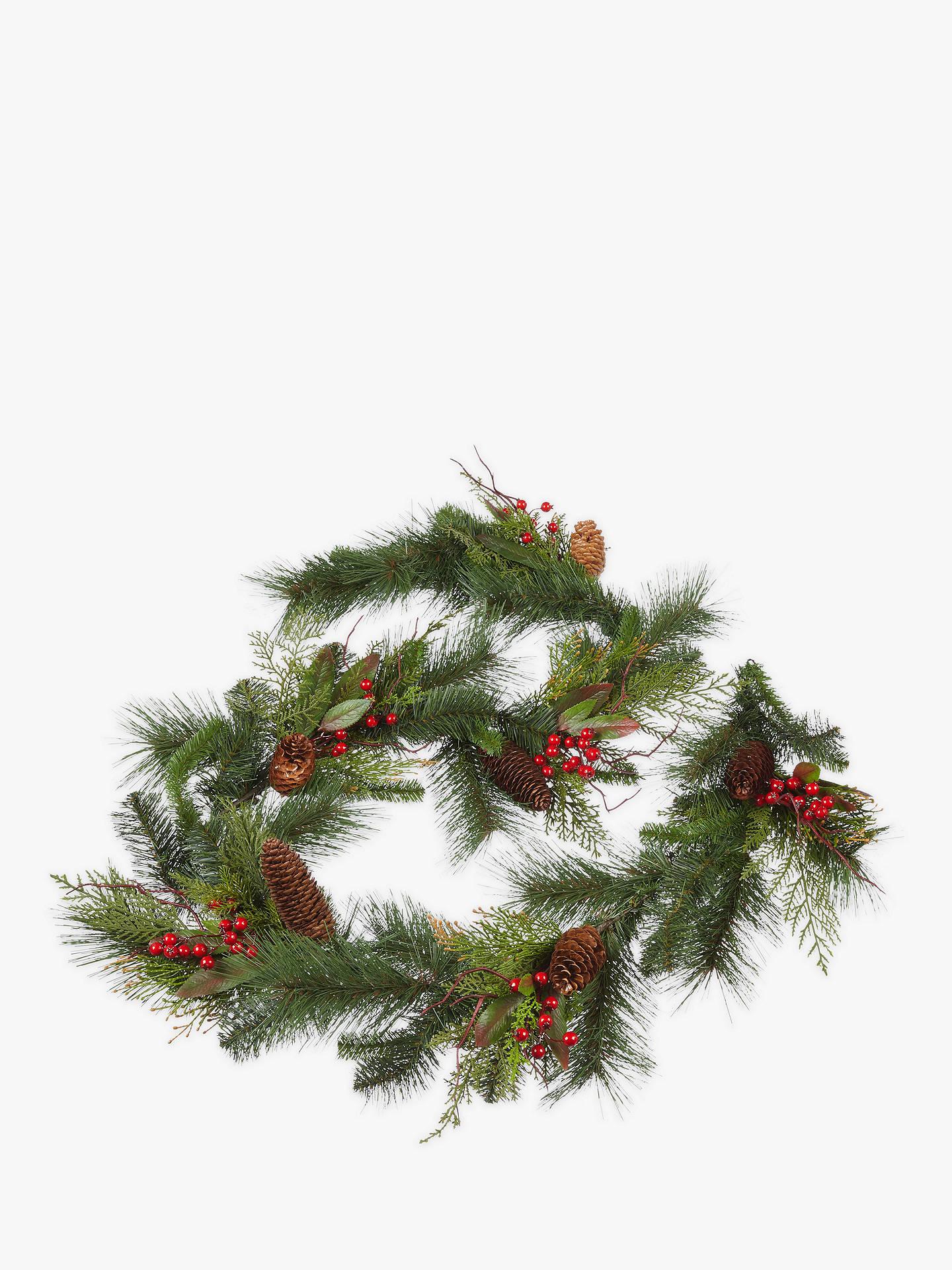 Christmas Pine Garland.John Lewis Partners Christmas Pine Garland At John Lewis