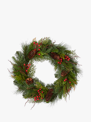 Buy John Lewis & Partners Christmas Pine Wreath Online at johnlewis.com