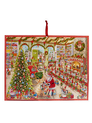 Buy Caspari Santa's Workshop 3D Advent Calendar Online at johnlewis.com