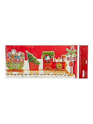 Caspari Santa Express 3D Advent Calendar