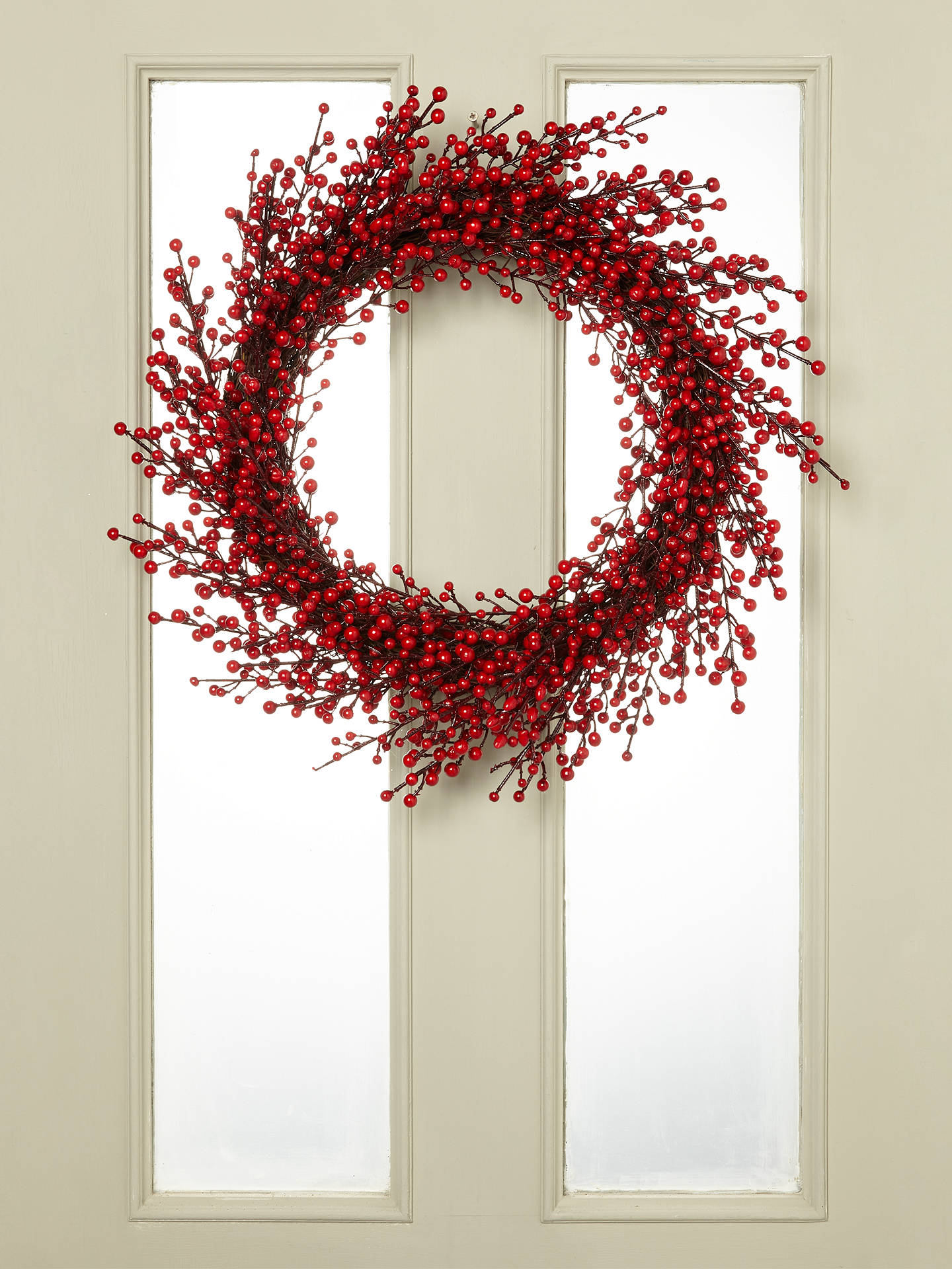 Buy John Lewis & Partners Cranberry Wreath, Red Online at johnlewis.com