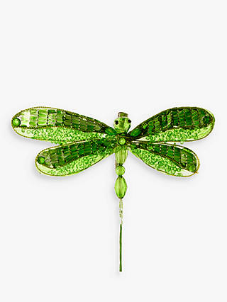 Buy John Lewis & Partners Emerald Dragonfly Tree Decoration, Green Online at johnlewis.com