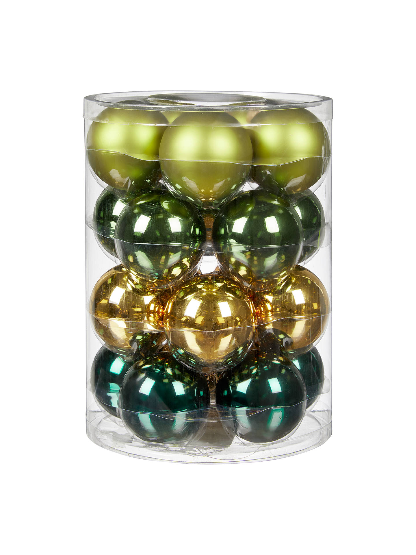 BuyJohn Lewis & Partners Emerald Glass Baubles, Tub of 20, Green/Multi Online at johnlewis.com