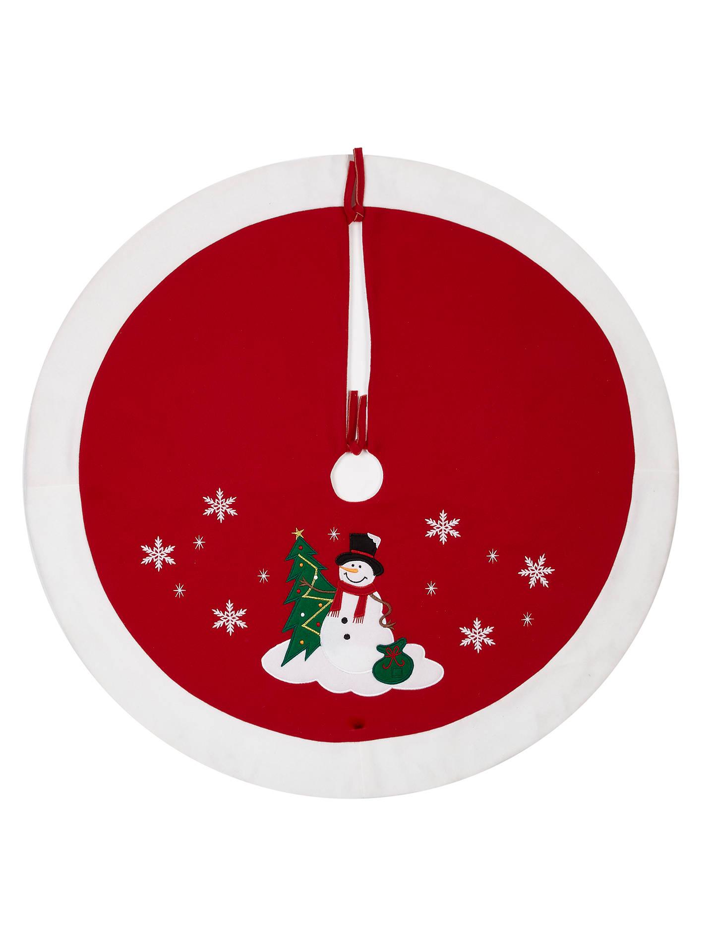 John Lewis Christmas Tree Skirt.John Lewis Partners Felt Snowman Tree Skirt