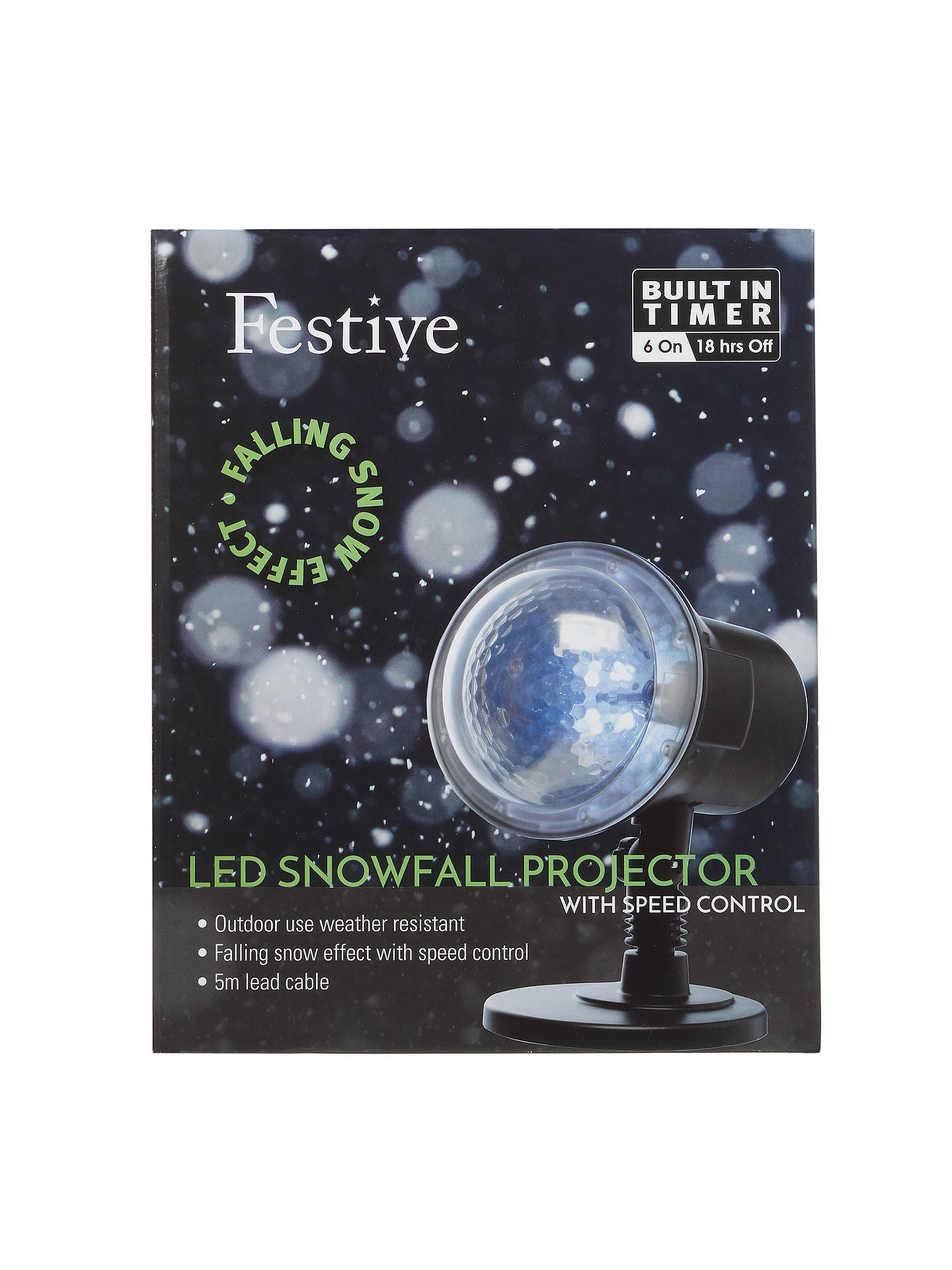 Buy John Lewis & Partners Festive Snowfall Projector Online at johnlewis.com