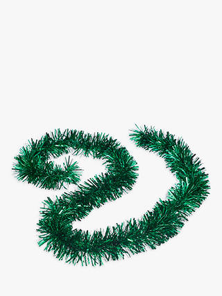 Buy John Lewis & Partners Emerald Chunky Tinsel, Green Online at johnlewis.com