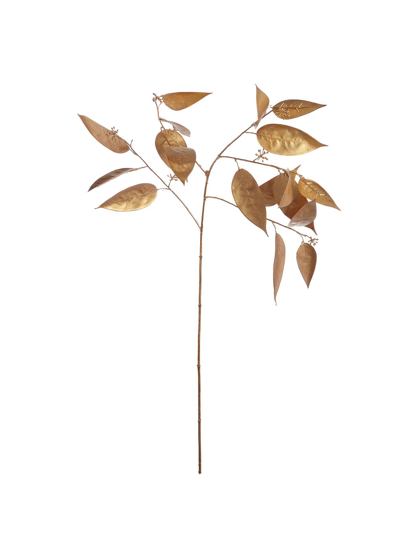 87cbf0626d1e Buy John Lewis   Partners Gold Eucalyptus Leaf Spray